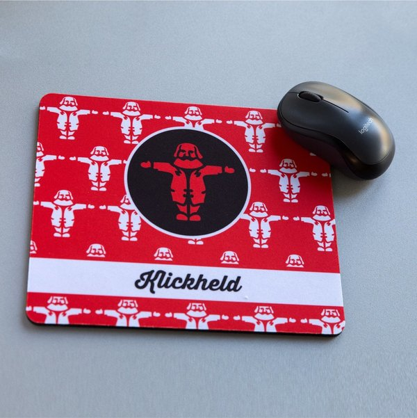 Mousepad KLICKHELD/IN Rot